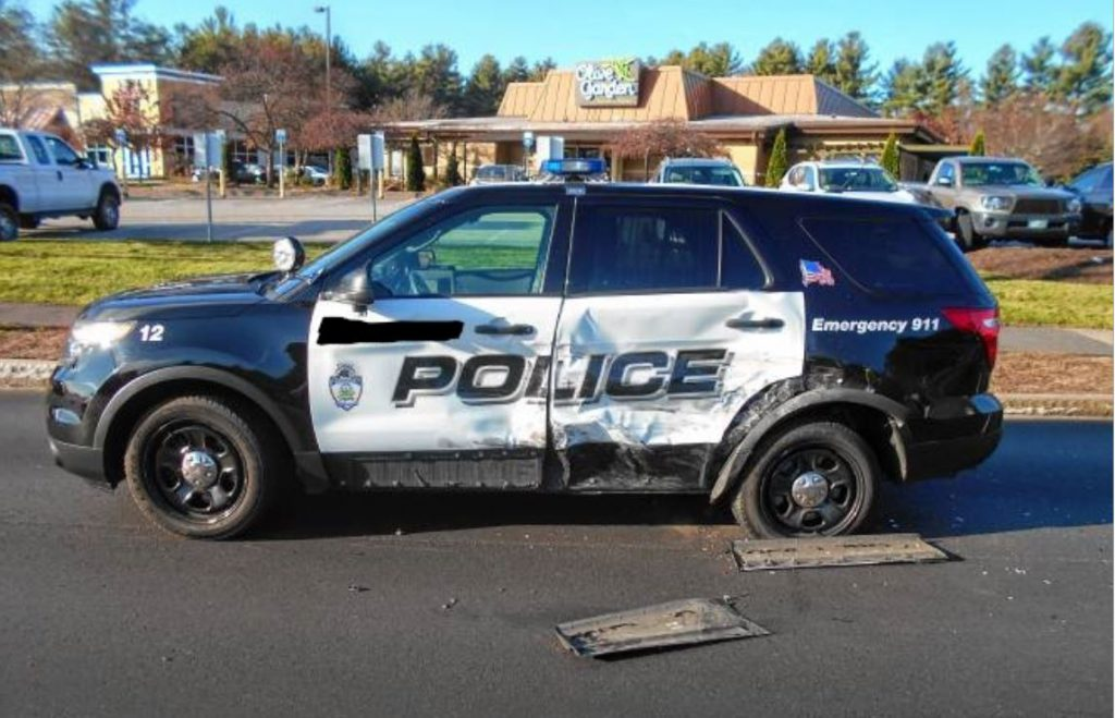 Massachusetts Police Cruiser Crash